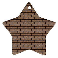 Brick1 Black Marble & Brown Colored Pencil (r) Ornament (star) by trendistuff