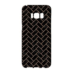 Brick2 Black Marble & Brown Colored Pencil Samsung Galaxy S8 Hardshell Case