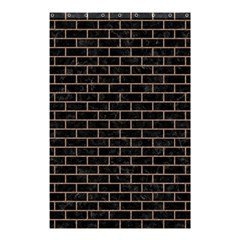 Brick1 Black Marble & Brown Colored Pencil Shower Curtain 48  X 72  (small) by trendistuff