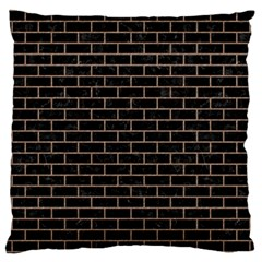 Brick1 Black Marble & Brown Colored Pencil Large Cushion Case (two Sides) by trendistuff