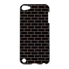 Brick1 Black Marble & Brown Colored Pencil Apple Ipod Touch 5 Hardshell Case by trendistuff