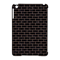 Brick1 Black Marble & Brown Colored Pencil Apple Ipad Mini Hardshell Case (compatible With Smart Cover) by trendistuff