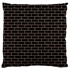 Brick1 Black Marble & Brown Colored Pencil Standard Flano Cushion Case (two Sides) by trendistuff