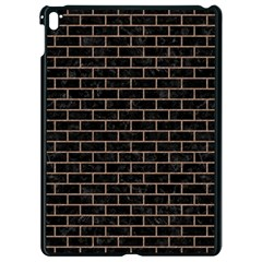 Brick1 Black Marble & Brown Colored Pencil Apple Ipad Pro 9 7   Black Seamless Case