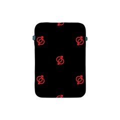 Seamless Pattern With Symbol Sex Men Women Black Background Glowing Red Black Sign Apple Ipad Mini Protective Soft Cases by Mariart