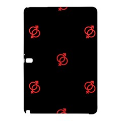 Seamless Pattern With Symbol Sex Men Women Black Background Glowing Red Black Sign Samsung Galaxy Tab Pro 12 2 Hardshell Case by Mariart