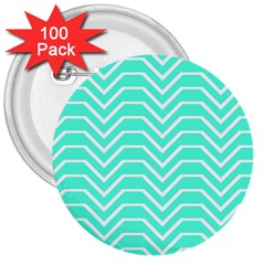 Seamless Pattern Of Curved Lines Create The Effect Of Depth The Optical Illusion Of White Wave 3  Buttons (100 Pack)
