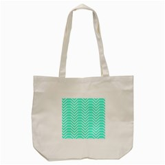 Seamless Pattern Of Curved Lines Create The Effect Of Depth The Optical Illusion Of White Wave Tote Bag (cream) by Mariart