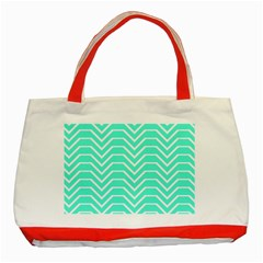 Seamless Pattern Of Curved Lines Create The Effect Of Depth The Optical Illusion Of White Wave Classic Tote Bag (red) by Mariart