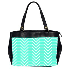 Seamless Pattern Of Curved Lines Create The Effect Of Depth The Optical Illusion Of White Wave Office Handbags (2 Sides)  by Mariart