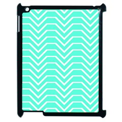 Seamless Pattern Of Curved Lines Create The Effect Of Depth The Optical Illusion Of White Wave Apple Ipad 2 Case (black)