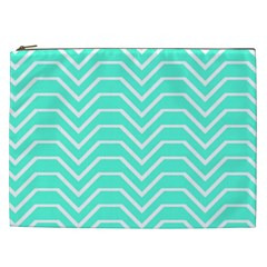 Seamless Pattern Of Curved Lines Create The Effect Of Depth The Optical Illusion Of White Wave Cosmetic Bag (xxl)  by Mariart