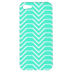 Seamless Pattern Of Curved Lines Create The Effect Of Depth The Optical Illusion Of White Wave Apple Iphone 5 Hardshell Case by Mariart