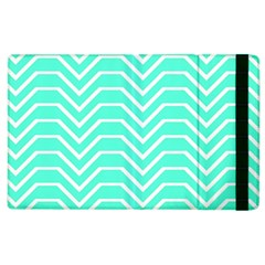Seamless Pattern Of Curved Lines Create The Effect Of Depth The Optical Illusion Of White Wave Apple Ipad 3/4 Flip Case by Mariart