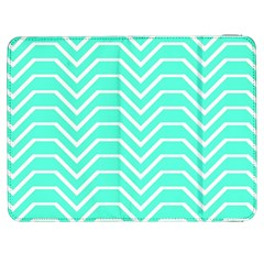 Seamless Pattern Of Curved Lines Create The Effect Of Depth The Optical Illusion Of White Wave Samsung Galaxy Tab 7  P1000 Flip Case by Mariart