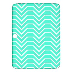 Seamless Pattern Of Curved Lines Create The Effect Of Depth The Optical Illusion Of White Wave Samsung Galaxy Tab 3 (10 1 ) P5200 Hardshell Case  by Mariart