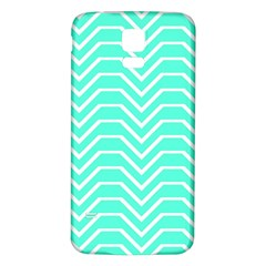 Seamless Pattern Of Curved Lines Create The Effect Of Depth The Optical Illusion Of White Wave Samsung Galaxy S5 Back Case (white) by Mariart