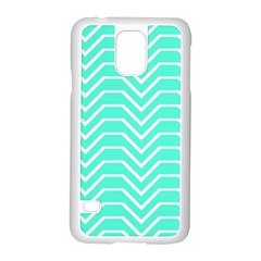 Seamless Pattern Of Curved Lines Create The Effect Of Depth The Optical Illusion Of White Wave Samsung Galaxy S5 Case (white)