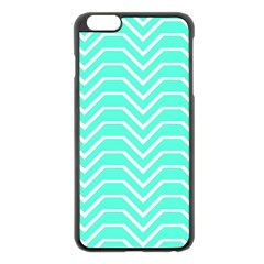 Seamless Pattern Of Curved Lines Create The Effect Of Depth The Optical Illusion Of White Wave Apple Iphone 6 Plus/6s Plus Black Enamel Case