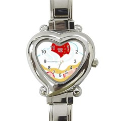 Seeds Strawberry Bread Fruite Red Heart Italian Charm Watch by Mariart
