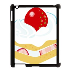 Seeds Strawberry Bread Fruite Red Apple Ipad 3/4 Case (black) by Mariart