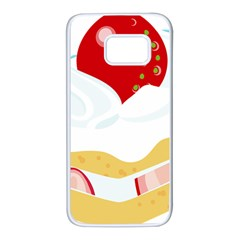 Seeds Strawberry Bread Fruite Red Samsung Galaxy S7 White Seamless Case by Mariart