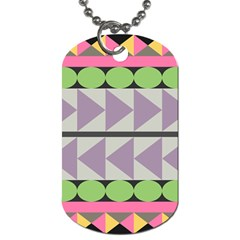 Shapes Patchwork Circle Triangle Dog Tag (one Side) by Mariart