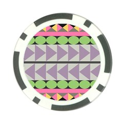 Shapes Patchwork Circle Triangle Poker Chip Card Guard (10 Pack)