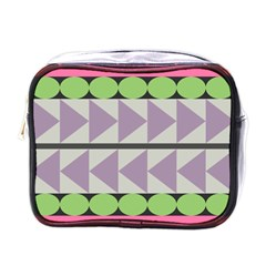 Shapes Patchwork Circle Triangle Mini Toiletries Bags by Mariart