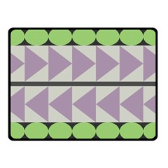 Shapes Patchwork Circle Triangle Fleece Blanket (small) by Mariart