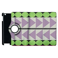 Shapes Patchwork Circle Triangle Apple Ipad 2 Flip 360 Case by Mariart