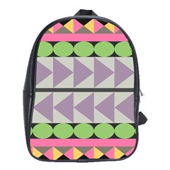 Shapes Patchwork Circle Triangle School Bags (xl)