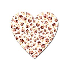 Pine Cones Pattern Heart Magnet by Mariart