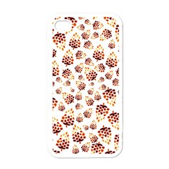 Pine Cones Pattern Apple Iphone 4 Case (white)