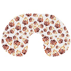 Pine Cones Pattern Travel Neck Pillows by Mariart