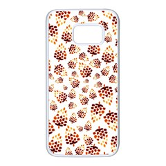 Pine Cones Pattern Samsung Galaxy S7 White Seamless Case by Mariart