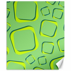 Shapes Green Lime Abstract Wallpaper Canvas 8  X 10  by Mariart