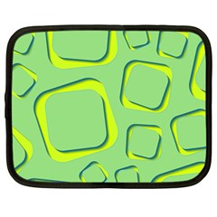 Shapes Green Lime Abstract Wallpaper Netbook Case (large) by Mariart
