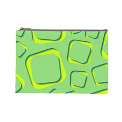 Shapes Green Lime Abstract Wallpaper Cosmetic Bag (large)  by Mariart