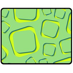 Shapes Green Lime Abstract Wallpaper Fleece Blanket (medium)