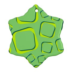 Shapes Green Lime Abstract Wallpaper Snowflake Ornament (two Sides) by Mariart