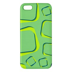 Shapes Green Lime Abstract Wallpaper Apple Iphone 5 Premium Hardshell Case by Mariart