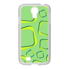 Shapes Green Lime Abstract Wallpaper Samsung Galaxy S4 I9500/ I9505 Case (white) by Mariart
