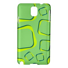 Shapes Green Lime Abstract Wallpaper Samsung Galaxy Note 3 N9005 Hardshell Case by Mariart
