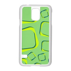 Shapes Green Lime Abstract Wallpaper Samsung Galaxy S5 Case (white) by Mariart