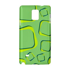 Shapes Green Lime Abstract Wallpaper Samsung Galaxy Note 4 Hardshell Case by Mariart