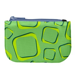Shapes Green Lime Abstract Wallpaper Large Coin Purse by Mariart