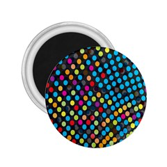 Polkadot Rainbow Colorful Polka Circle Line Light 2 25  Magnets by Mariart