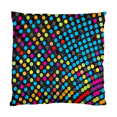 Polkadot Rainbow Colorful Polka Circle Line Light Standard Cushion Case (two Sides) by Mariart