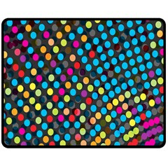 Polkadot Rainbow Colorful Polka Circle Line Light Fleece Blanket (medium)  by Mariart